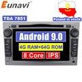 Eunavi 2 Din 4G 64G Android 9 Auto DVD Radio Stereo-Player Für Opel Astra H G J Vectra antara Zafira Corsa Vivaro Meriva Veda GPS