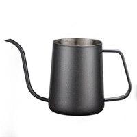 Olla de café de mano de boca larga más gruesa cafetera de acero inoxidable estilo europeo maceta de té|Cafeteras| |  -