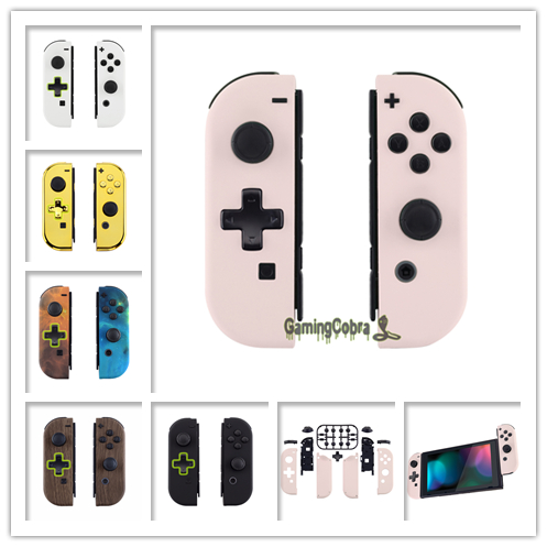 Custom Controller Housing (D-Pad Version) With Full Set Buttons DIY Replacement Shell Case For Nintendo Switch Joy-Con