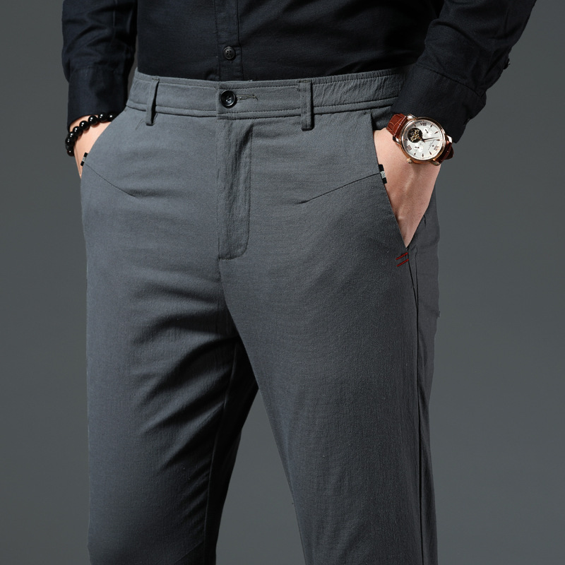Plus Zise Men's Suit Pants Classic Style Green Grey Black Business Casual Straight Stretch Dress Pants Male Brand Trousers