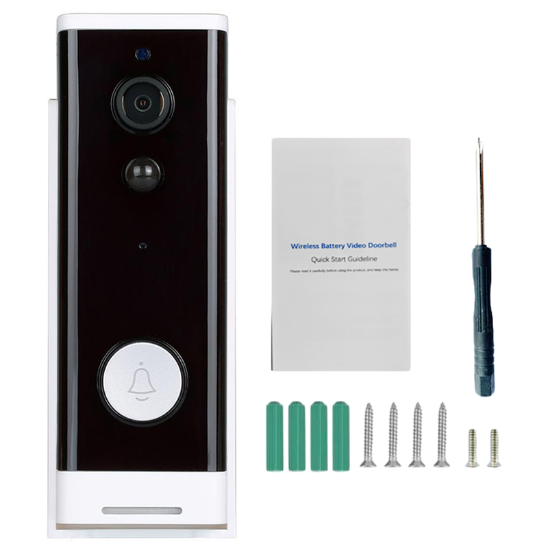720P Wireless Doorbell Camera Wifi Video Two-Way Intercom App Remote Monitoring Alarm Voice Monitor