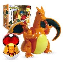 다카라 토미 포케몬 엘프 볼 변형 장난감 모델 Charizard 포켓 몬스터 포켓몬 장난감 액션 피겨 모델 선물