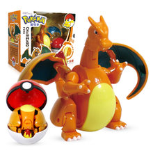 TAKARA TOMY – figurine Pokemon elfe Ball, jouet, modèle Charizard de poche, monstres, cadeau