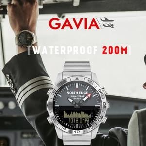 Image 4 - גברים שעונים צלילה צפון קצה שעוני יד ספורט 10 ברים עמיד למים נירוסטה שעון relogio masculino מצפן שעון Mens