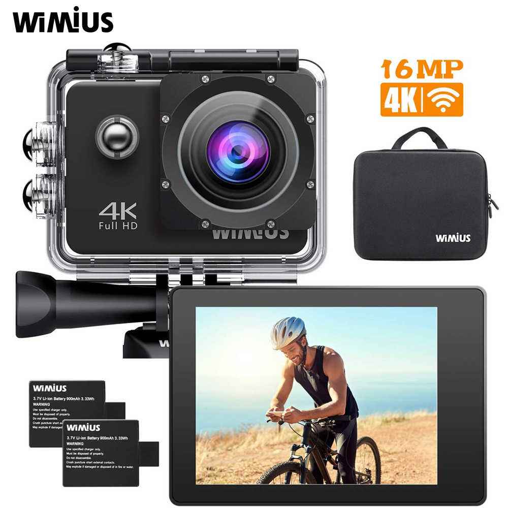 WIMIUS L2 4k Sport Video Camera HD Action Diving Camera Wifi Camcorder 12MP Helmet Cam 40M Waterproof Camara de accion Casco