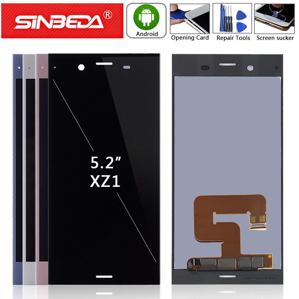 """5.2""""Original For Sony Xperia XZ1 LCD Display with Frame Housing Touch Screen Digitizer Assemble For SONY XZ1 G8341 G8342 Display(China)"""