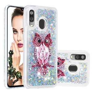 Image 5 - Fashion Bling Phone Cases for Samsung Galaxy A40 A20 A30 A80 A90 A60 A20e A10e M40 A2 Core Liquid Quicksand Soft TPU Shell Coque