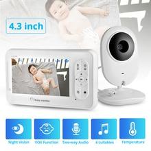 KERUI 4.3 inch Wireless Color Baby Monitor Audio Video Baby Camera Temperature Monitor Security Camera IR Night Vision
