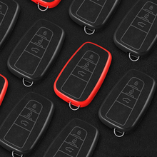 цена на Plastic leather key case for car For Toyota C-HR Prado 2017 2018 Prius Camry Corolla RAV4 2018 Remote Control 3 Buttons car new