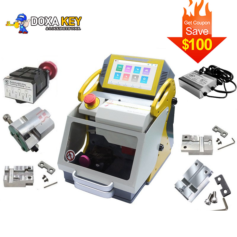 2020 SEC-E9 Automatic Car Key Making Laser Key Cutting Machine For Sale SEC E9 5 Clamps + Power Charger