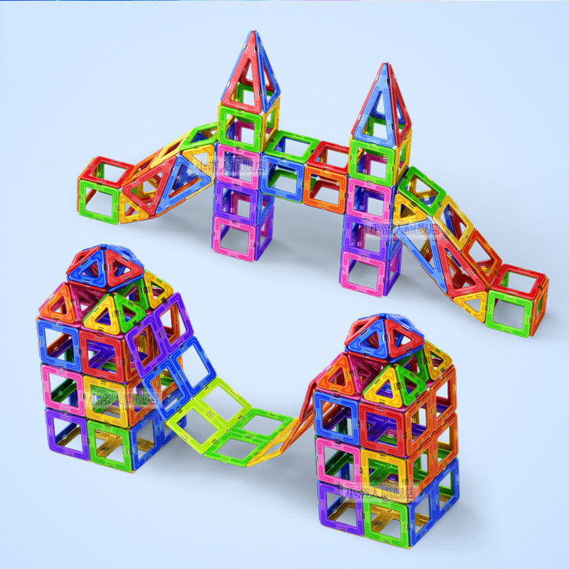 50pcs Big Size Magnetic Blocks Toys For Children Cultivate Kid Creativity Design Imagination Magnetic Constructor Piece Toy