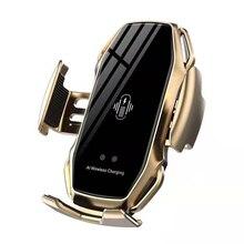 Auto Draadloze Oplader 10W Snelle Qi Draadloos Opladen Voor Iphone 11 Pro Xs Xr Dubbele Inductie Auto Telefoon Houder voor Samsung S9 Pius