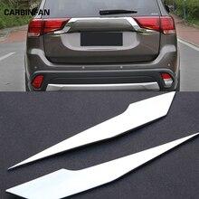 Для Mitsubishi Outlander 2016 2017 2018 Задние световые полосы ABS хром внешний задний фонарь декоративная крышка отделка автомобильный Стайлинг C363