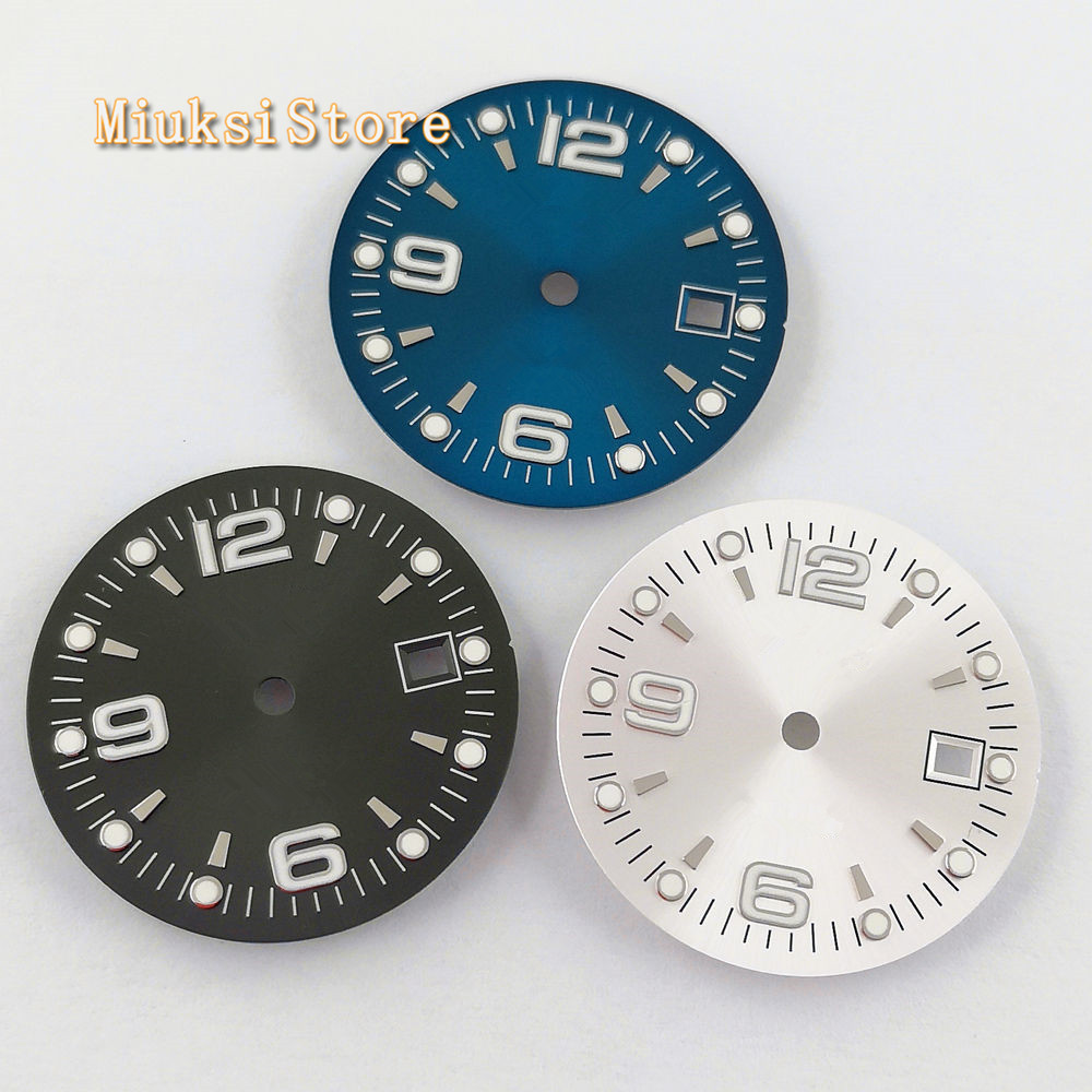 1PCS 31.5mm sterile blue black silver watch Dial Fit ETA 2836/2824 DG2813/3804 Miyota 8215 821A 8205 automatic movement P934-N