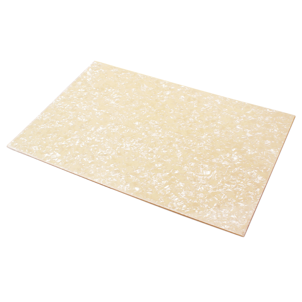 PVC Plastic Guitar Pickguard Sheet Material Cream Luthier Supply