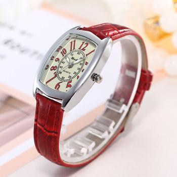 Kobiety bransoletka zegarek baryłkę typu luksusowe kryształ stopu kwarcowe zegarki na rękę kobiety mody zegarek kwarcowy sztuczna skóra zegarki kwarcowe zegarki na rękę tanie i dobre opinie QUARTZ 3Bar Klamra Moda casual 25mm Szkło 22cm Skrzyni ładunkowej