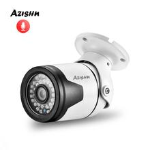"AZISHN Audio 2MP 1080P 1/2.8"" SC4239 Surveillance IP DC/POE Camera Internal Mic Outdoor IR Night Security Camera ONVIF P2P"