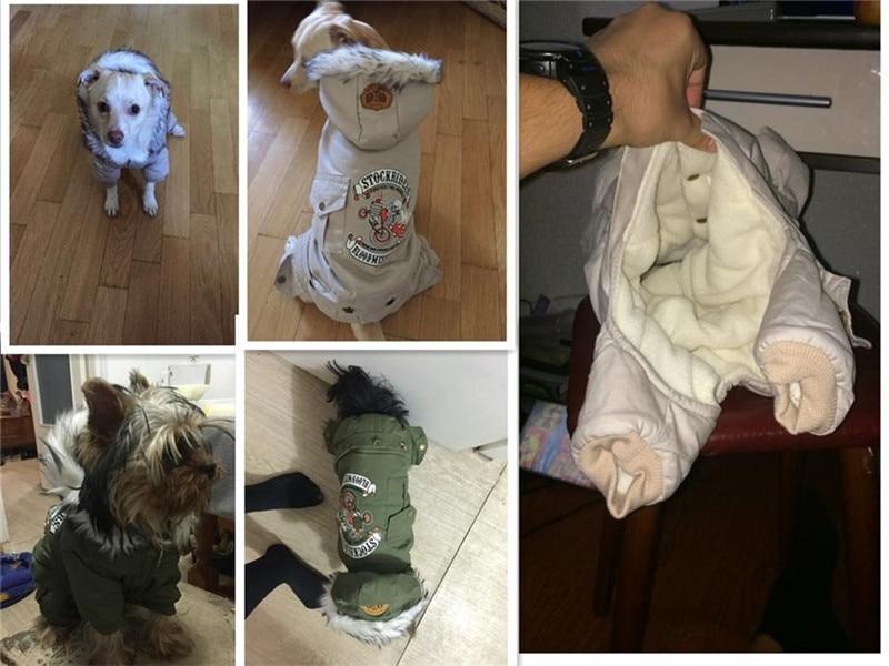 Высококачественная зимняя теплая одежда для собак с капюшоном, утепленное хлопковое пальто для щенков, куртки для чихуахуа, одежда для собак, комбинезон-3