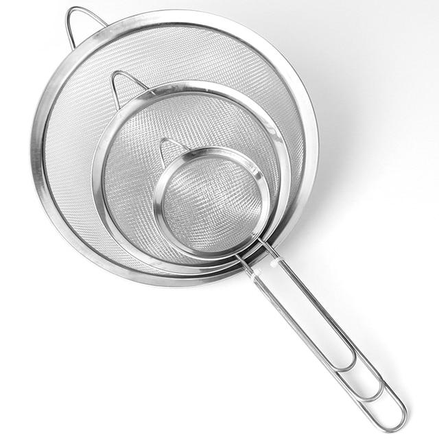 Tool Fine Mesh Strainer Spoon Stainless Steel Multifunctional Filter Fried Food