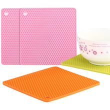 Silicone Placemats Honeycomb Non-slip Heat-Resistant Mats Bowl Pad Pot Holder Thicken Insulation Table Placemat Desktop Decor недорого
