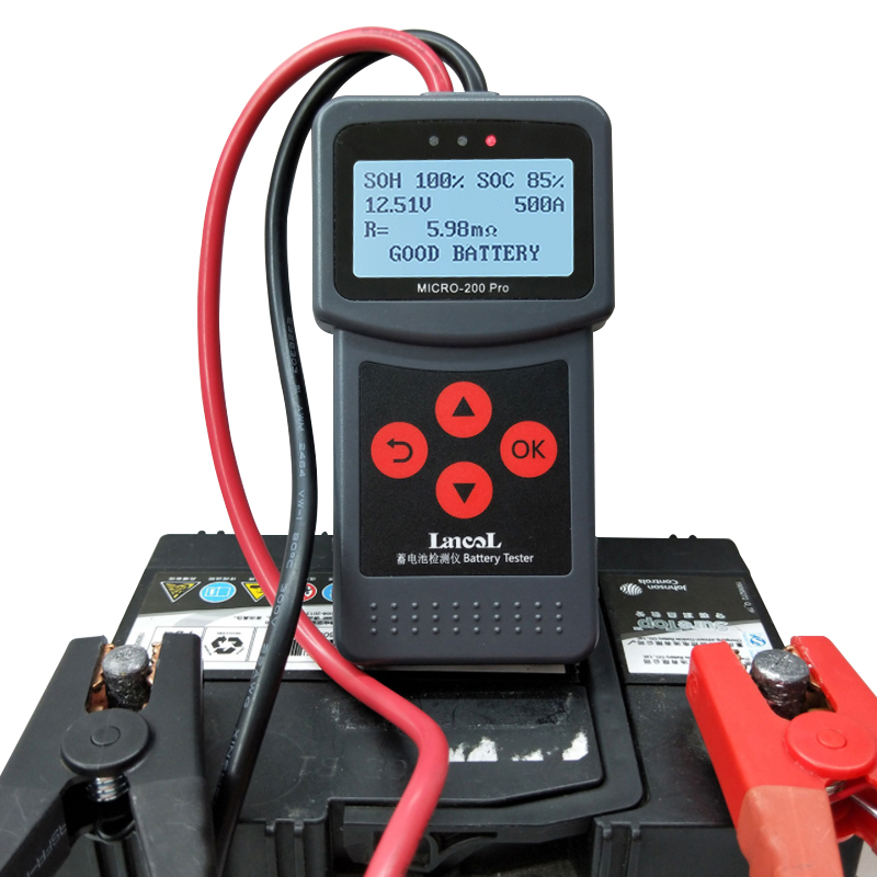MICRO-200 PRO 12v 24v Car Battery Tester Multi-Language Digital AGM EFB Gel Automotive Load Battery System Analyzer For Car Moto
