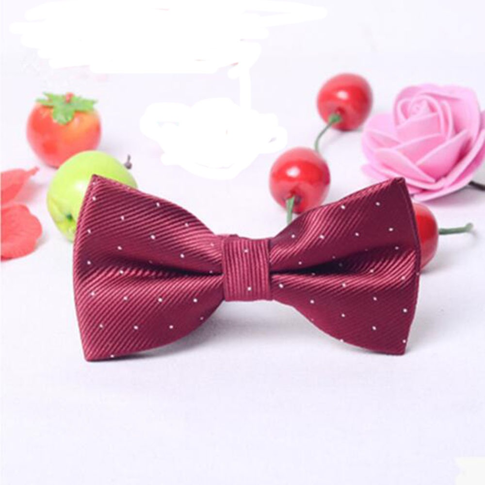 2019 New  Hot  Fashion Children Bow Tie Baby Boy Kid Clothing Accessories Solid Color Gentleman Shirt Neck Tie Bowknot Dot