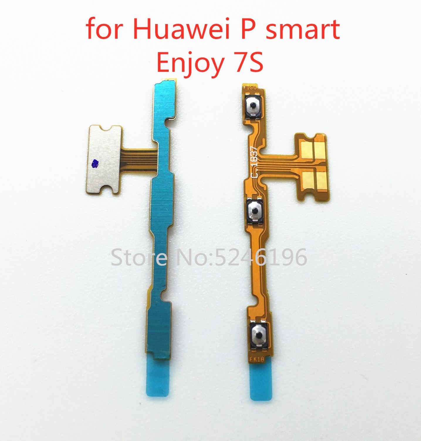 For Huawei P Smart / Enjoy 7S FIG-LX1 Power Switch On/Off Button Volume Key Button Flex Cable FIG-LA1-LX2-LX3replacement Parts