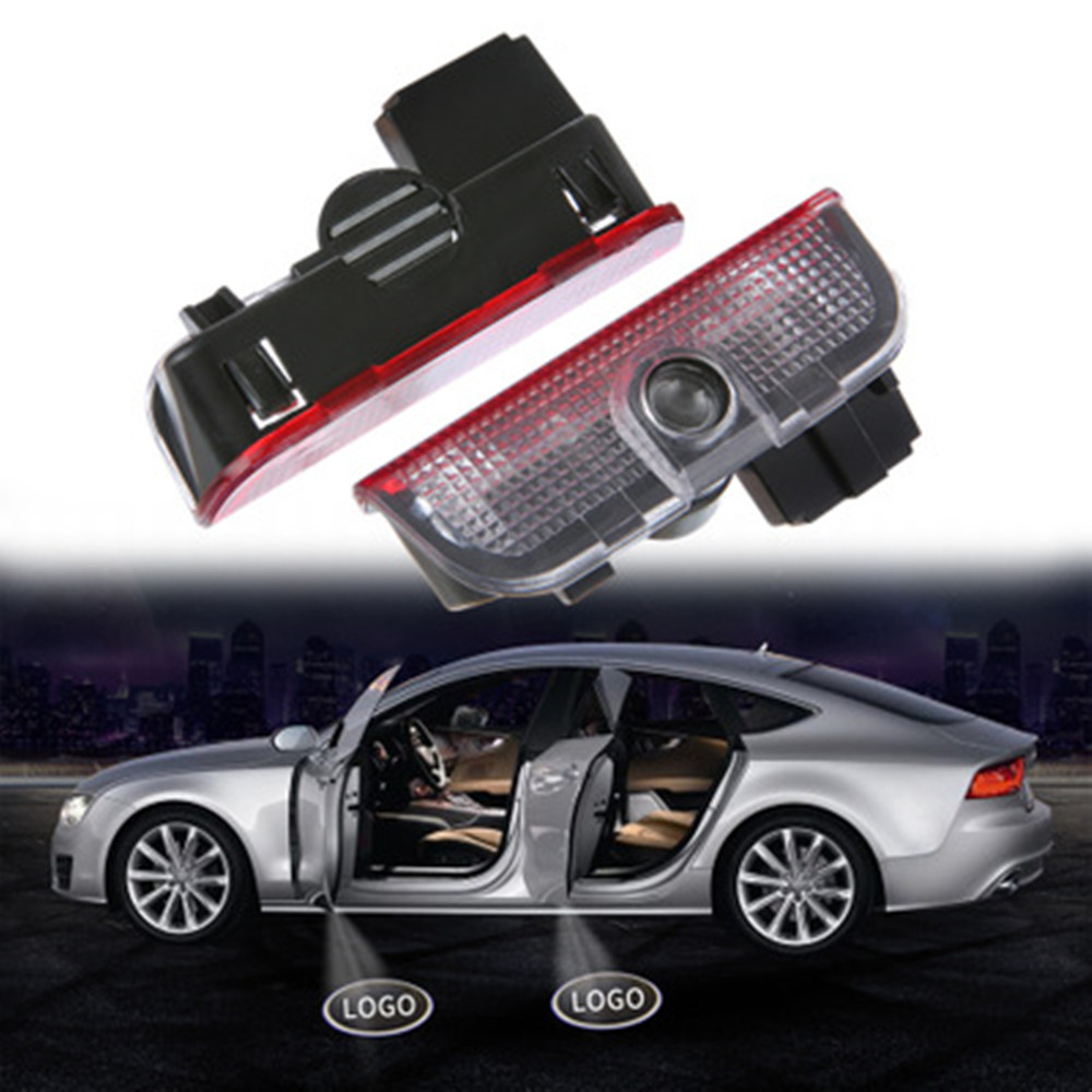 2Pcs <font><b>LED</b></font> Car Door Laser Logo Projector Warning <font><b>Light</b></font> for <font><b>VW</b></font> Passat B5 B6 B7 GTI Touran Jetta <font><b>MK5</b></font> MK6 CC <font><b>Golf</b></font> 5 6 7 R Rline cc image