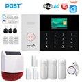 PGST PG105 3G 4G сигнализация с PIR беспроводной сирена домашняя охранная сигнализация умный дом Комплект Tuya дистанционное управление