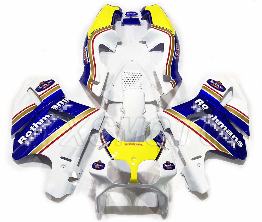 Brand New ABS Fairings RVF400 NC35 VFR400 35 Blue White Yellow Bodywork Fairing Kit Rvf400 Nc35 Vfr400 35