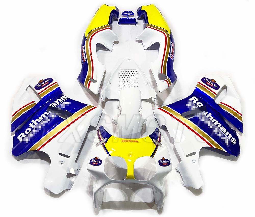 Brand New ABS Fairings RVF400 NC35 VFR400 35 Blue White Yellow Bodywork Fairing Kit Rvf400 Nc35 Vfr400 35