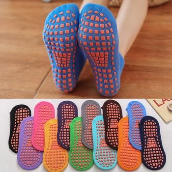 5 Pairs Anti-skid Socks Floor Socks Trampoline Socks Indoor Activities Socks Cotton Socks for Kids Women Men Short Socks фото
