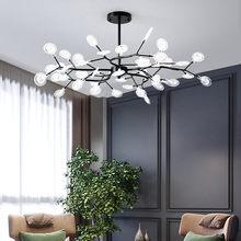 Nordic led lustre para sala de jantar decoração vagalume pingente lâmpada quarto preto elegante ramo árvore casa luz interior