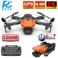 RC Camera Drone 6K GPS Anti Lost Professional Brushless 5G WiFi FPV immagine in tempo reale 1.2KM Quadcoper a lunga distanza Dron RG101