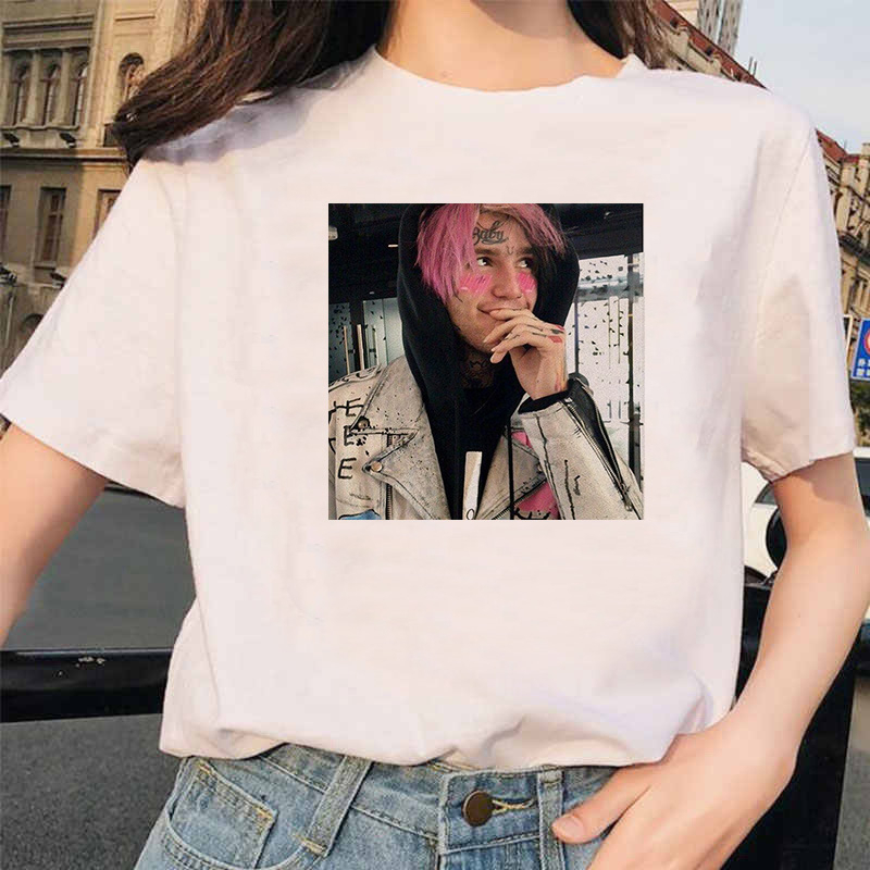 Rapper Lil Peep T Shirt Rap Hip Hop LilPeep Girl Tshirt Women Harajuku 90s Korean Vintage Tumblr T-shirt Graphic Tee Tops Female