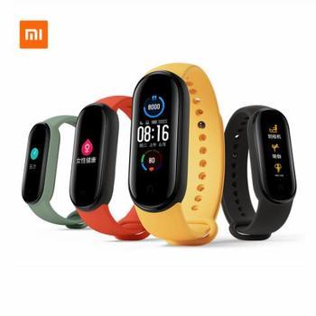 Xiaomi Mi Band 5 Wristband Stress Female Health Smart Blacelet Heart Rate Sleep Step Swim Sport Monitor APP Push Alarm
