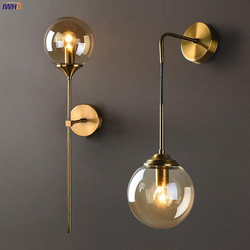 Nordic Modern Wall Lamp Beside Bedroom Glass Ball LED Wall Lights Fixtures Wandlamp Lighting Bathroom Mirror Stair Light (32)