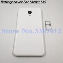 Batterie Tür Zurück Cover Gehäuse Fall Für MEIZU M5 5,2 Zoll Mit Antenne + Power Volumen Tasten + Kamera objektiv + Sim Karte Tray
