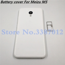 Battery Door Back Cover Housing Case For MEIZU M5 5.2 Inch With Antenna+Power Volume Buttons+Camera lens+Sim Card Tray