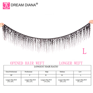 Image 2 - DreamDiana Brazilian Water Wave 1/3 Bundles L Remy Weave Hair Piece Natural Black Color 100% Human Hair Extensions Free Shipping