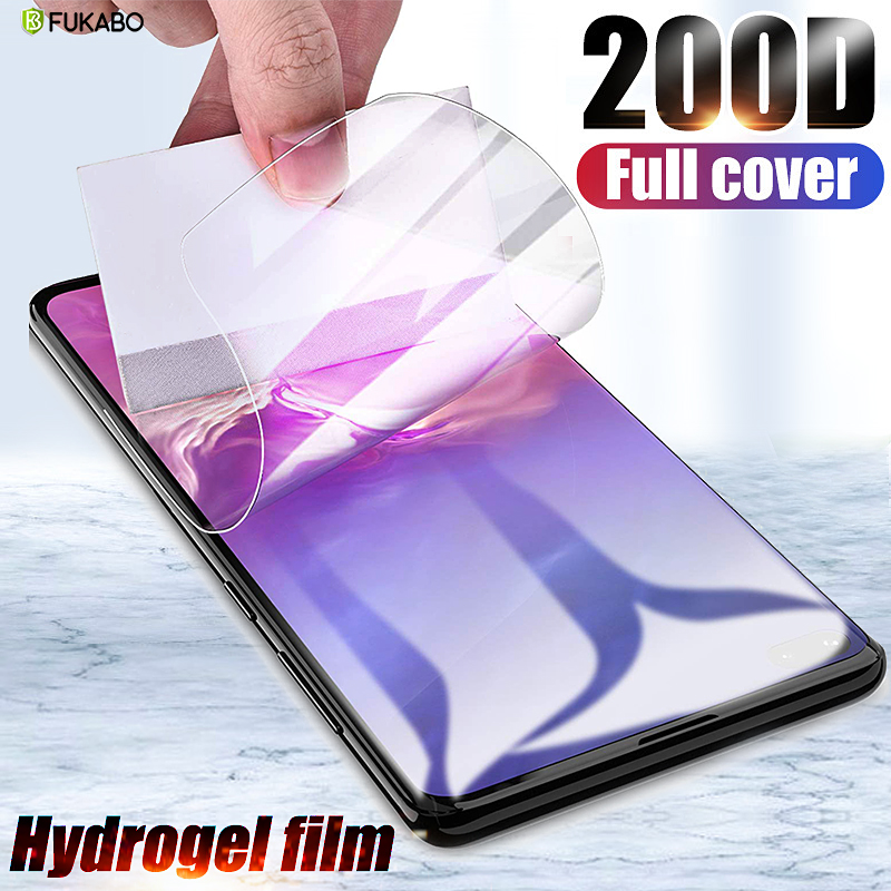 200D Protective Hydrogel Film For Samsung Galaxy S10 Plus Lite S10E S9 S8 S7 Screen Protector For Samsung Note 8 10 9 Not Glass