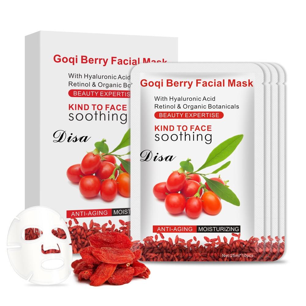 Goji Berry Facial Mask Anti-wrinkle Whitening Moisturizing With Hyaluronic Acid Retinol & Organic Cream Anti-aging Remove Spots