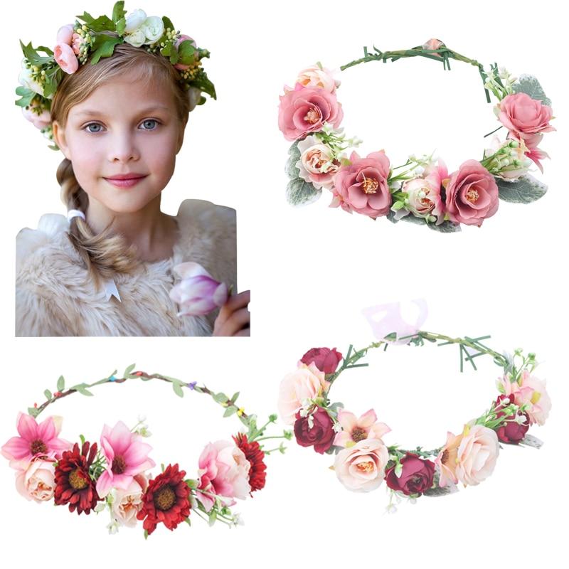 Indigo Purple Camellia Peony Flower Headband Festival Hair Crown Garland 5591