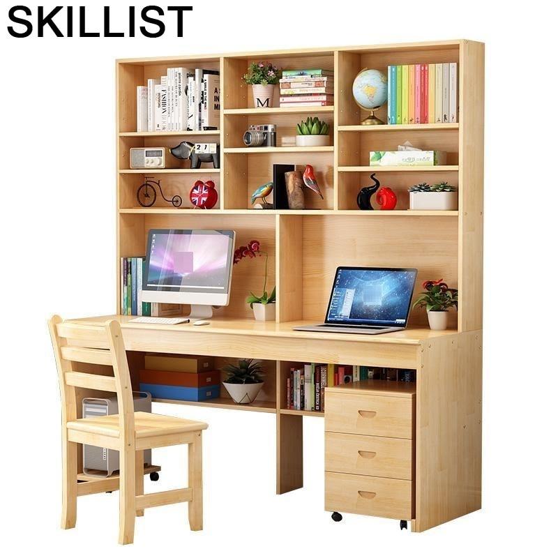 Ordinateur Portable Biurko Escritorio De Oficina Para Notebook Dobravel Computer Desk Laptop Mesa Bedside Table With Bookshelf