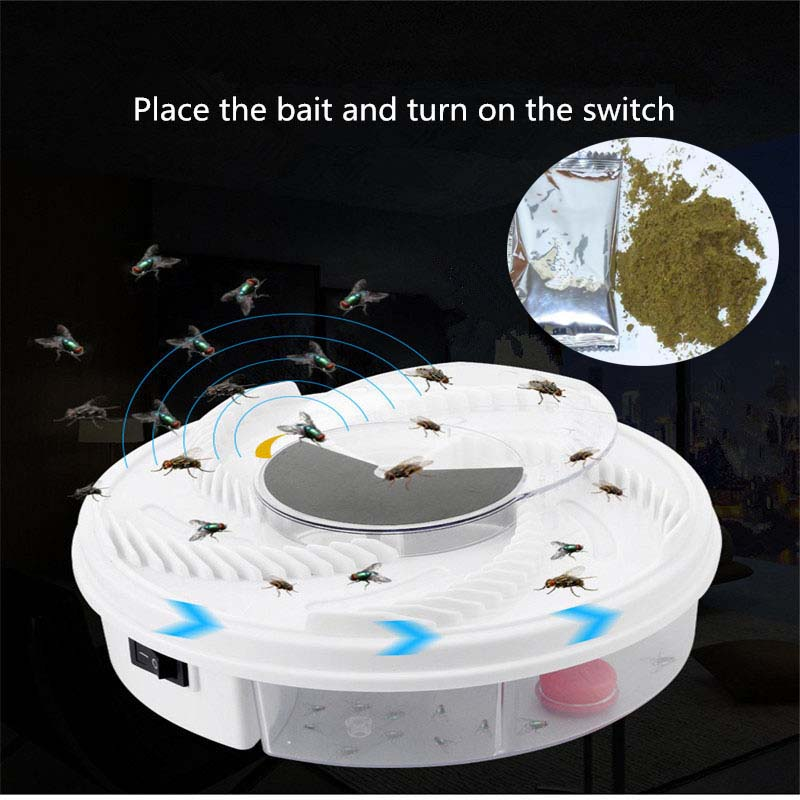 Electric Fly Trap Device USB Flycatcher Automatic Trapping Food Fly Catcher Trapper Pest Insect Flytrap USB Type Fly Trap Bait