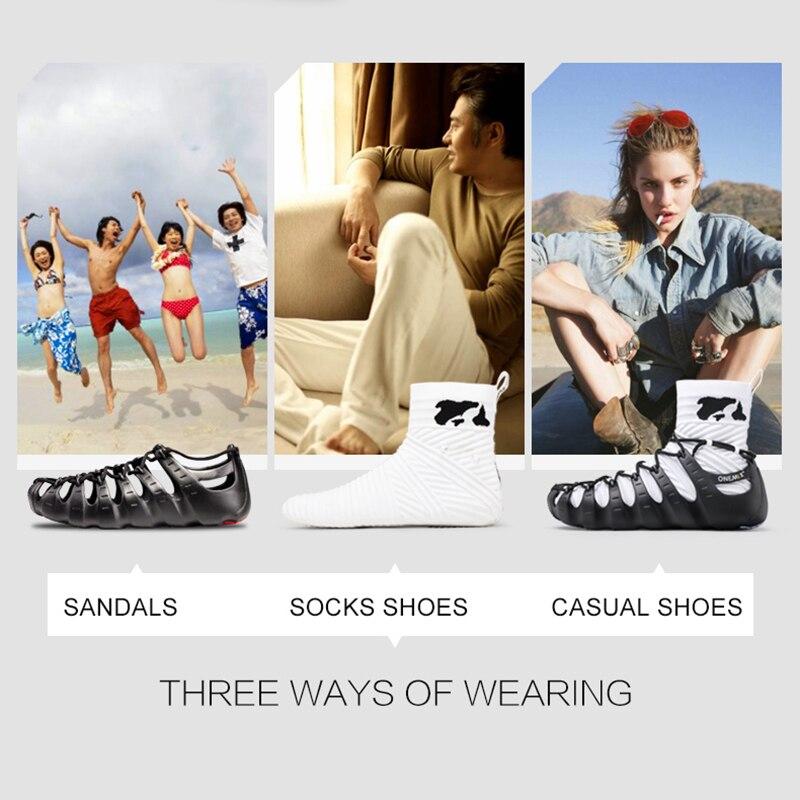 ONEMIX Walkiing Schuhe für Männer Casual High Top Socke Schuhe Original Persönlichkeit Frauen Gladiator Sandalen Outdoor Trekking Turnschuhe - 3