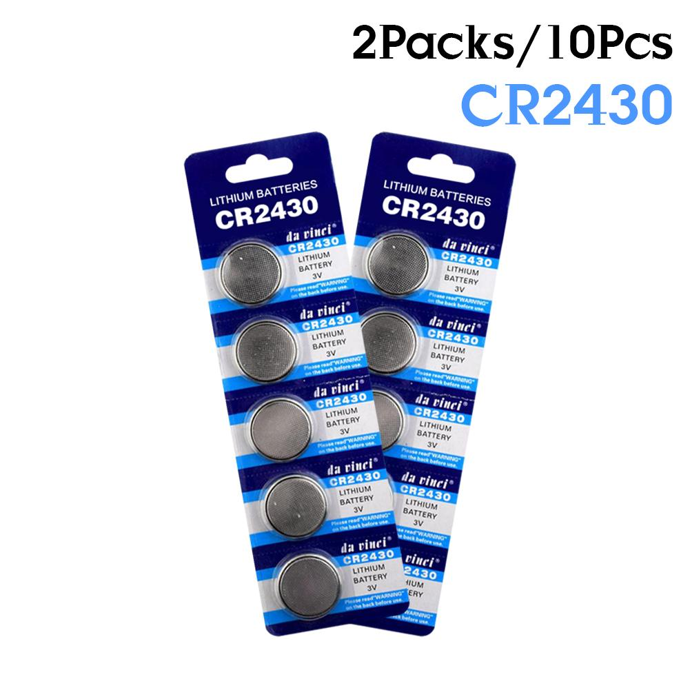 YCDC 10 шт. CR2430 3 Вольт литий-ионный аккумулятор CR2430 DL2430 BR2430 ECR2430 KL2430 KL2430 KCR2430 батареи для монет для игрушечного калькулятора