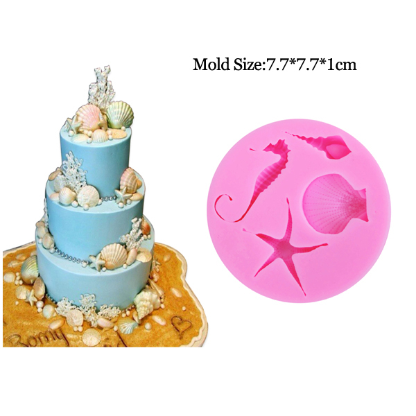 Strange C200 3D Shell Conch Uv Resin Silicone Molds Fondant Cake Personalised Birthday Cards Veneteletsinfo