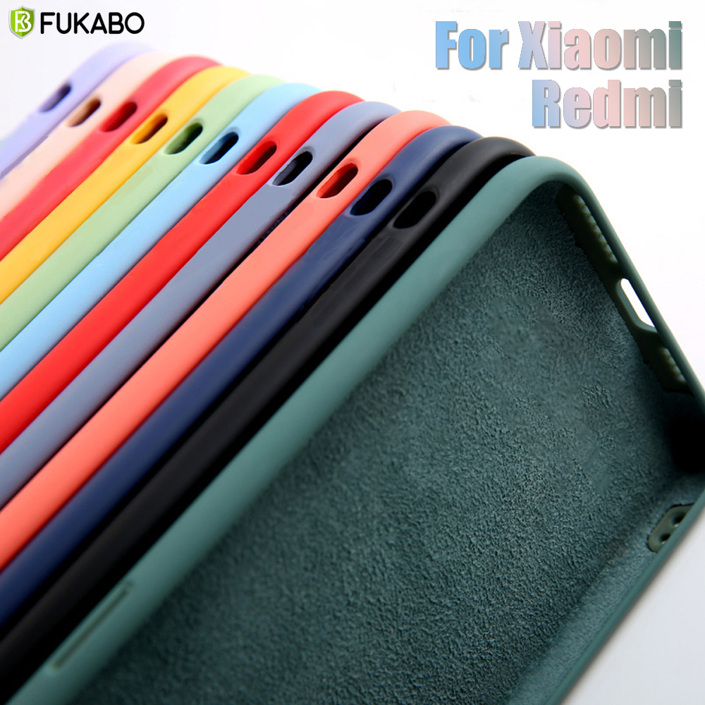 Sıvı silikon darbeye dayanıklı kılıf için Xiaomi mi not 10 Lite 9 SE A3 9t Redmi not 9A 9 S 8 7 6 5 K20 K30 9 Pro Max yumuşak arka kapak
