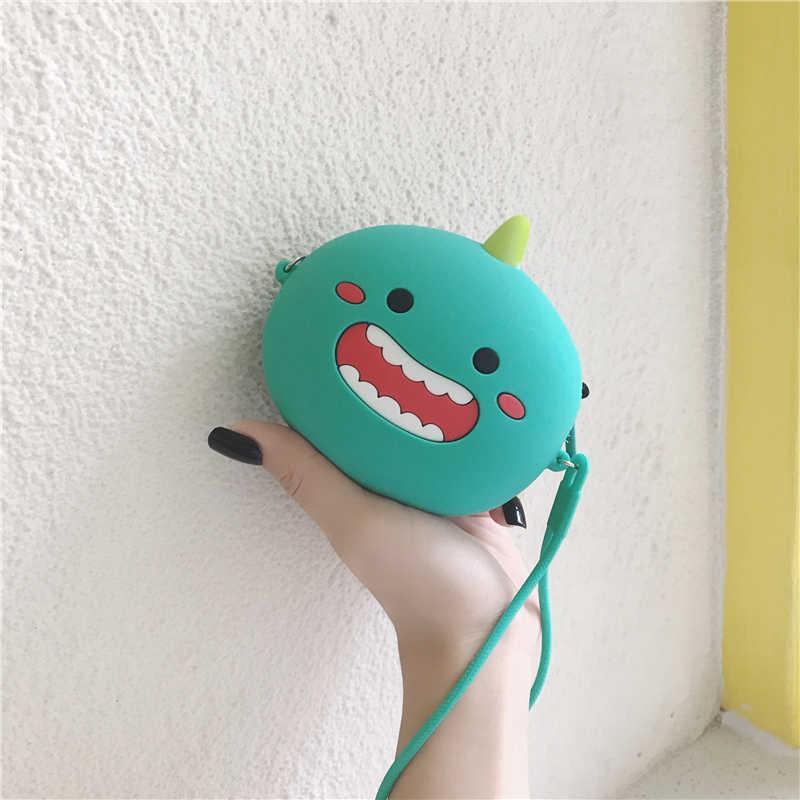 זרוק משלוח אופנה ארנקי רך סיליקון בנות מטבע ארנקי נשים מיני תיבת אחסון Bluetooth אוזניות מקרה תיבת חמוד כסף תיק
